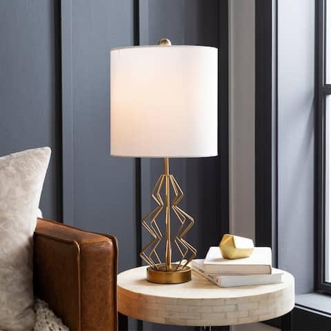 "Simonne Modern Gold Frame 23-inch Table Lamp - 23""H x 10""W x 10""D"