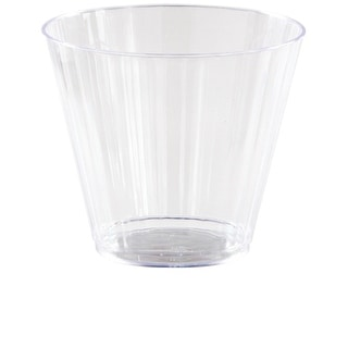 Club Pack of 96 Clear Reusable Fluted Tumbler Party Drinking Glasses 9oz