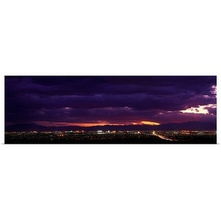 """Nevada, Las Vegas, storm"" Poster Print"