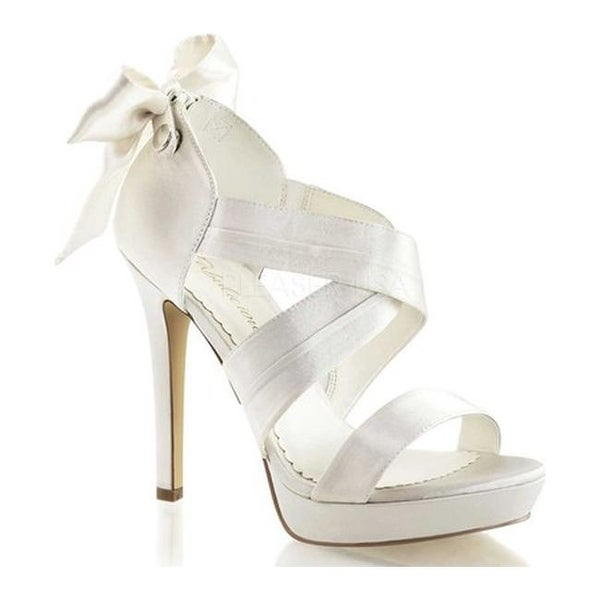 219203f76b2 Shop Fabulicious Women s Lumina 29 Ivory Satin - On Sale - Free Shipping  Today - Overstock.com - 10000171