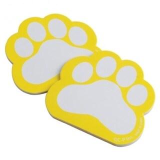 US Toy Pawprint Memo Pads, Yellow - 34 per Pack - Pack of 12