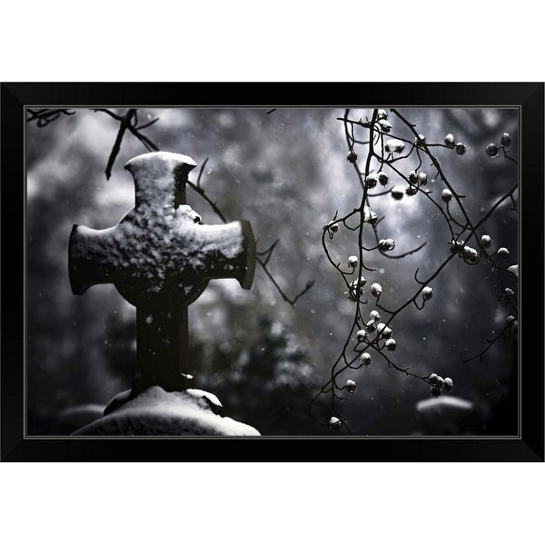 """Frozen Memories"" Black Framed Print"
