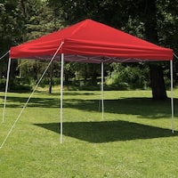 Sunnydaze Quick-Up 12-Foot Straight Leg Canopy with Carrying Bag - Red