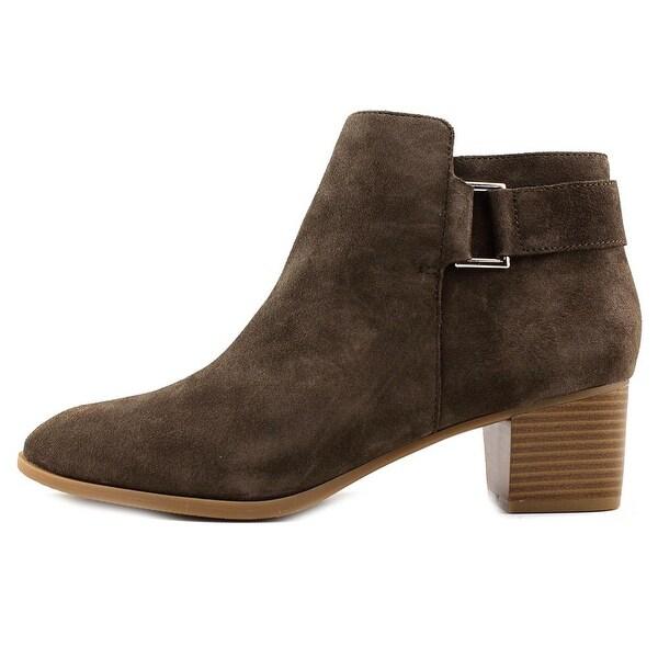 Alfani Womens Adisonn Suede Almond Toe Ankle Fashion Boots
