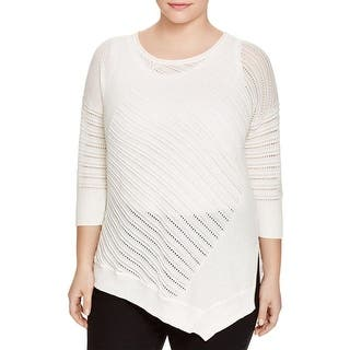 Love Scarlett Womens Plus Pullover Sweater Pointelle Ribbed Trim|https://ak1.ostkcdn.com/images/products/is/images/direct/609b3619af8874e2d3553fae84602faf0cfc40fc/Love-Scarlett-Womens-Plus-Pullover-Sweater-Pointelle-Ribbed-Trim.jpg?impolicy=medium