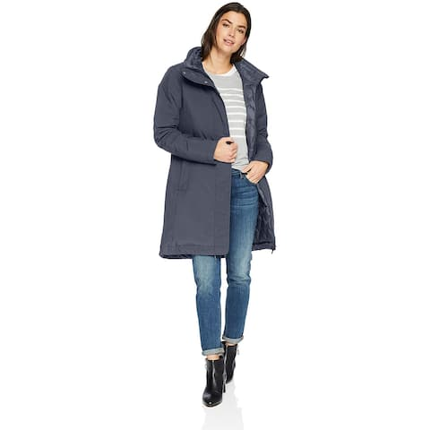 Columbia Women's Hillsdale Reversible Parka, India Ink, Small