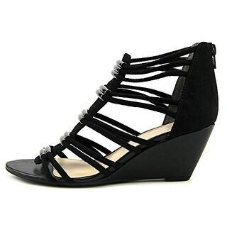 Bar III Women's Krystal Open Toe Canvas Wedge sandals