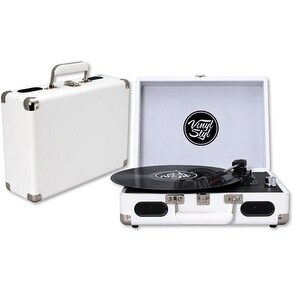 Vinyl Styl Groove Portable Turntable (White)