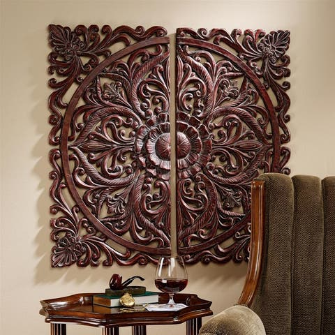 Design Toscano Carved Rosette Architectural Wall Sculpture - 16.5 x 1 x 33