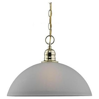 Sea Gull Lighting 65225-02 Linwood 1-Light Polished Brass Pendant - Polished brass