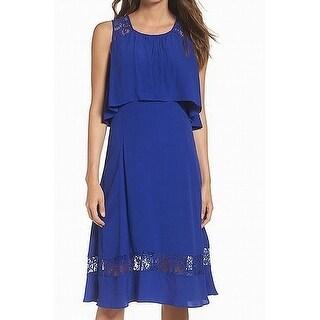 BB Dakota Womens Popover Lace-Insert Sheath Dress