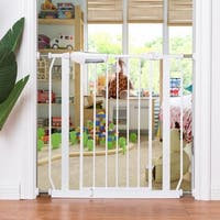Gymax Baby Safety Gate Door Walk Through Toddler Child Pet Metal Easy Locking System - as pic