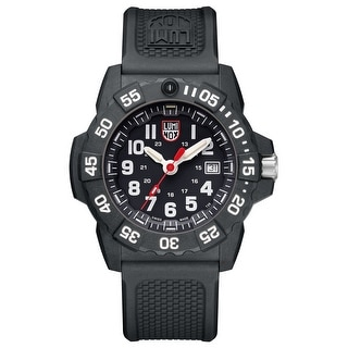 Link to Luminox Men's XS.3501 Navy Seal 45mm Black/ White Dial Black Rubber Strap Watch Similar Items in Men's Watches