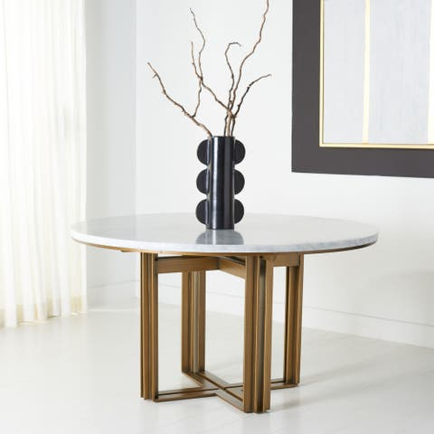 """Safavieh Couture Azalea Marble Round Dining Table - 53.9"""" W x 53.9"""" L x 24.8"""" H"""