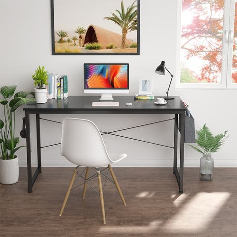 Modern Home Office Writing Study Desk with Storage Bag