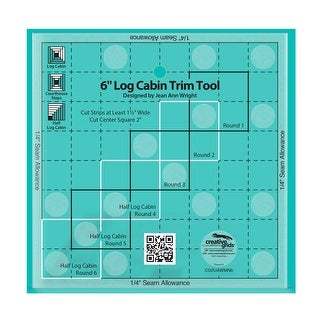 """Link to Creative Grids 6in Log Cabin Trim Tool Quilt Ruler - 0.25"""" x 6"""" x 6"""" Similar Items in Sewing & Quilting"""