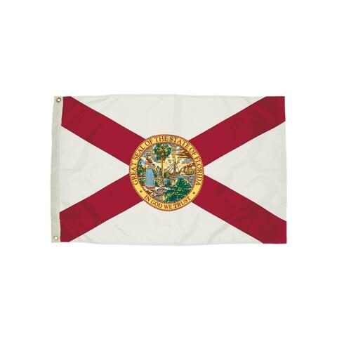 Independence flag 3x5 nylon florida flag heading & 2082051