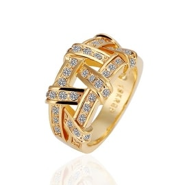 Gold Plated Abstract Tied Jewels Covering Ring