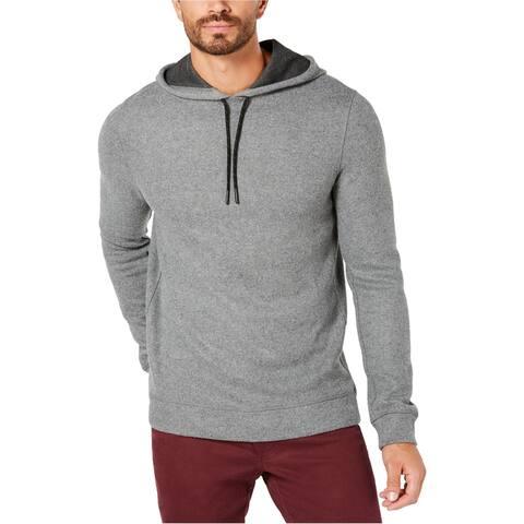 Kenneth Cole Mens Knit Hoodie Sweatshirt, Grey, Large