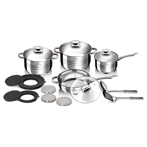 Blaumann 15-Piece Stainless Steel Cookware Set