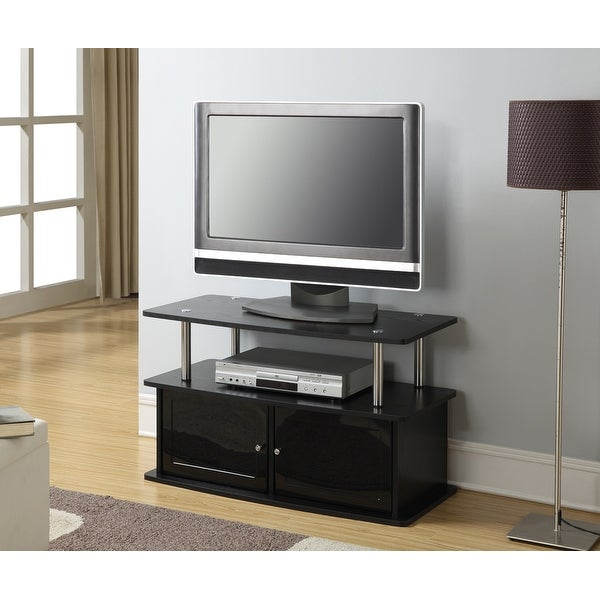 Porch & Den Derbigny TV Stand with 2 Storage Cabinets and Shelf. Opens flyout.