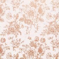 "Sage & Grace Foiled Cardstock 12""X12""-Rose Bouquet"