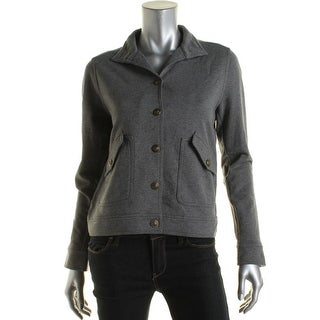 LRL Lauren Jeans Co. Womens Jacket French Terry Heathered