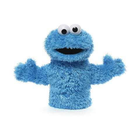 Sesame Street Cookie Monster 11 Inch Plush Hand Puppet - Blue
