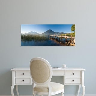 Easy Art Prints Panoramic Images's 'Jetty in a lake, Lake Atitlan, San Marcos, Western Highlands, Guatemala' Canvas Art