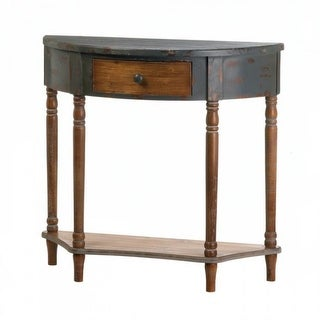 Old World Half Moon Console Table