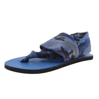 OTBT Womens Camouflage Thong Flat Sandals