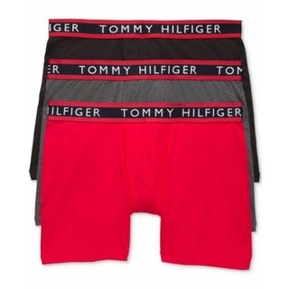 Tommy Hilfiger NEW Black Mens Size Medium M 3-Pack Assorted Boxer Briefs