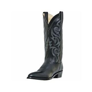 Dan Post Western Boots Mens Milwaukee Leather Sharp Toe Black DP2110J