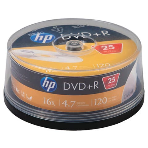Hp 4.7gb 16x Dvd+rs (25-ct Cake Box Spindle)