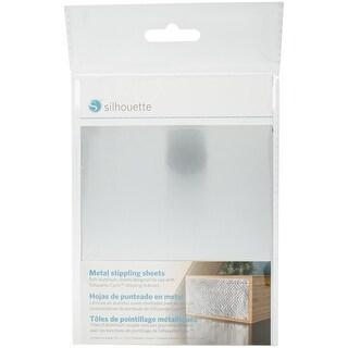 "Silhouette Curio Metal Stippling Sheets 5""X7"" 6/Pkg-Aluminum"