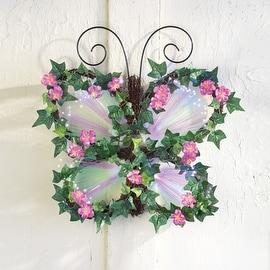 Fiber Optic Floral Butterfly Wall Art