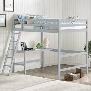 Link to Caspian Full Loft Bed and Desk Similar Items in Kids' & Toddler Beds