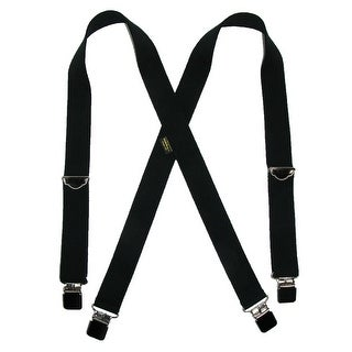 Welch Men's Big & Tall Elastic Clip End Double Face Suspenders - One Size