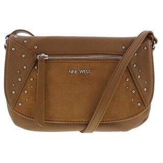 Nine West Womens Studded Star Crossbody Handbag Faux Leather Lined - small