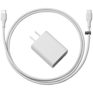Google 18W USB-C Power Adapter w/ Cable - Gray
