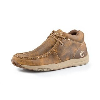 Roper Western Shoes Mens Leather Casual Chukka Tan 09-020-1662-0279 TA