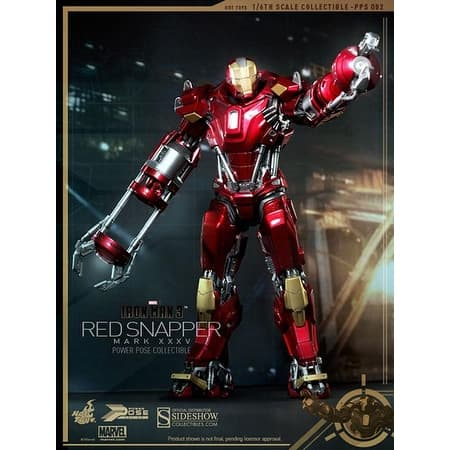 Iron Man 3 Hot Toys 1:6 Power Pose Collectible Figure: Red Snapper Mark XXXV - multi