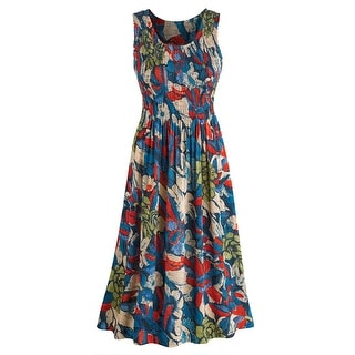 Women's Tropical Vacation Sleeveless Sundress