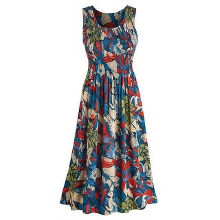 "Women's Tropical Vacation Sundress - Sleeveless - 48"" Long"