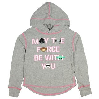 Star Wars Girls' May The Force Be With You Emoji Faces Hoodie