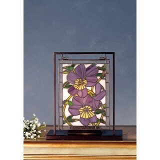 Meyda Tiffany 68409 Stained Glass Tiffany Window from the Pansies Collection - n/a