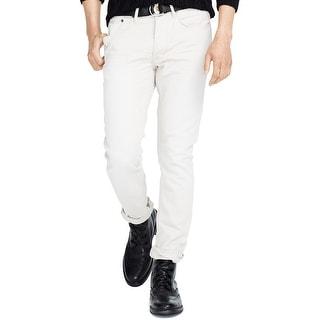 Polo Ralph Lauren Varick Slim Straight Corduroy Pants Stone Grey 38 x 32