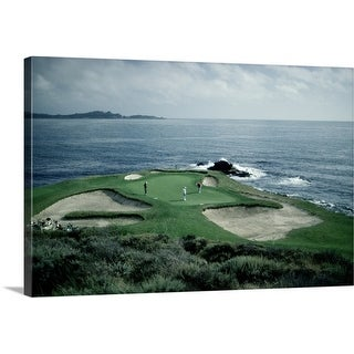 Premium Thick-Wrap Canvas entitled The golf course at Pebble Beach, California.