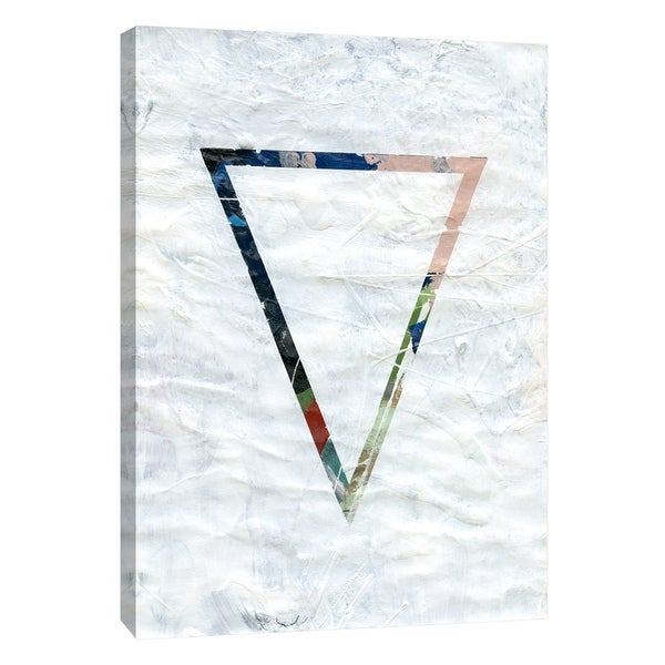 """PTM Images 9-105128 PTM Canvas Collection 10"""" x 8"""" - """"Frosted Geometry 2"""" Giclee Abstract Art Print on Canvas"""
