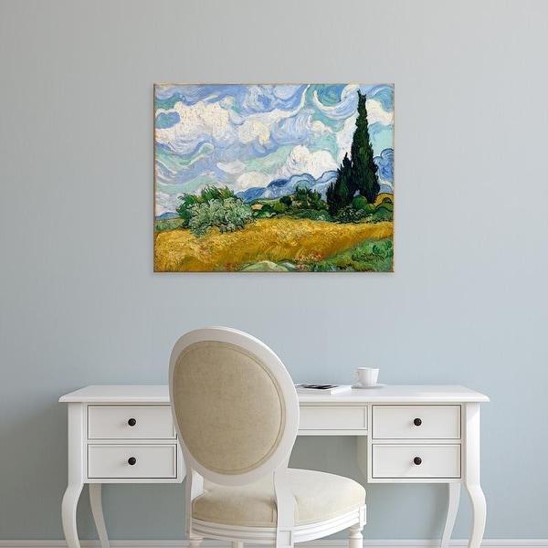 Easy Art Prints Vincent Van Gogh's 'Wheat Field with Cypresses' Premium Canvas Art